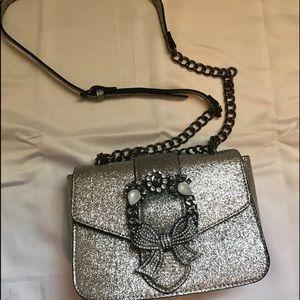 NWOT Aldo silver Crossbody Bag